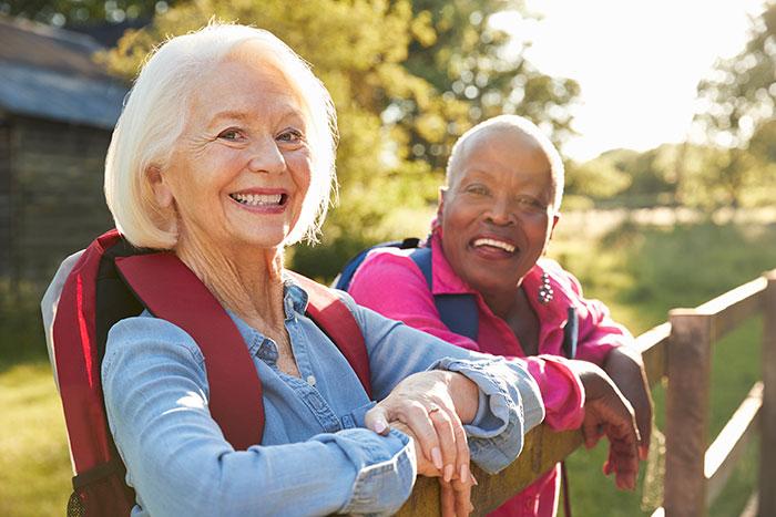 Two smiling ladies.