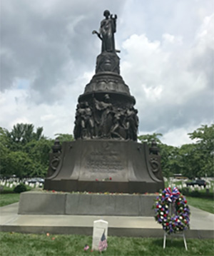 Memorial statue.